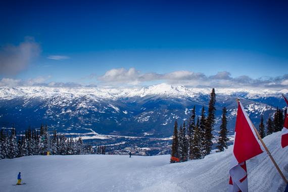 View from the top of the mountain Whistler.  <br>Whistler-Blackcomb, Whistler, British Columbia, Canada, 2014 by Lennart Wörmer <br>#12
