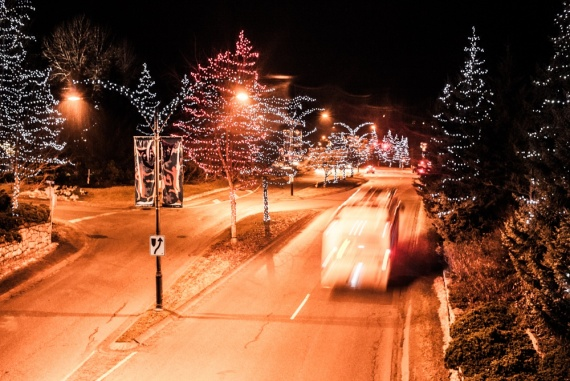 New Years Eve in Whistler... I was just going to the main square to watch the fireworks.