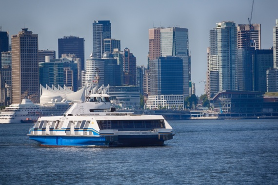 SeaBus between North Vancouver and Vancouver. <br>Vancouver, British Columbia, Canada (photo taken from North Vancouver) , 2014 by Lennart Wörmer <br>#38