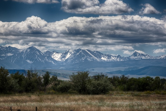 Somewhere in the northern part of the United States... I have passed these mountains during my roadtrip from Calgary (Canada) to San Francisco (USA).   <br>USA, 2014 by Lennart Wörmer <br>#41