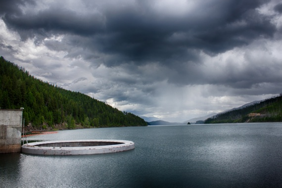 Reservoir at the Hungry Horse Dam. Check out the other photo with all the beautiful nature on the other side of the dam. <br>Montana, USA, 2014 by Lennart Wörmer <br>#51
